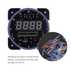So sánh giá DIY Light Control Rotation Digital LED Electronic Temperature Clock Kit Suite W/USB Cable Green – intl Tại Sweatbuy