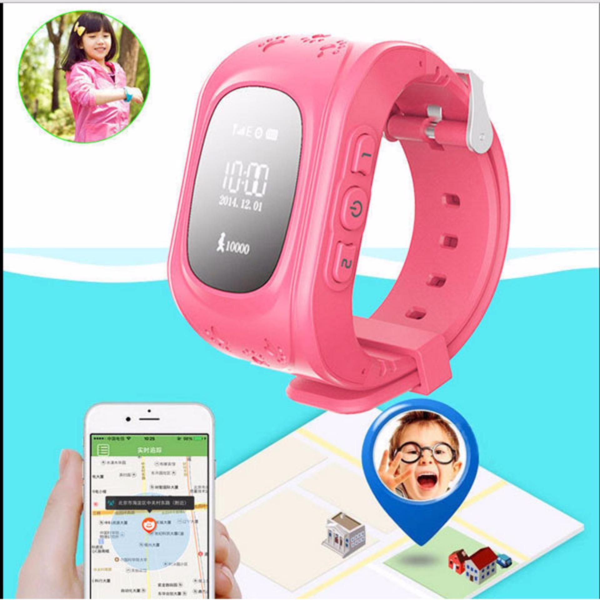 Đồng hồ điện thoại giám sát định vị trẻ em GPS Smartwatch (Màu xanh) + tặng đèn ngủ cảm ứng