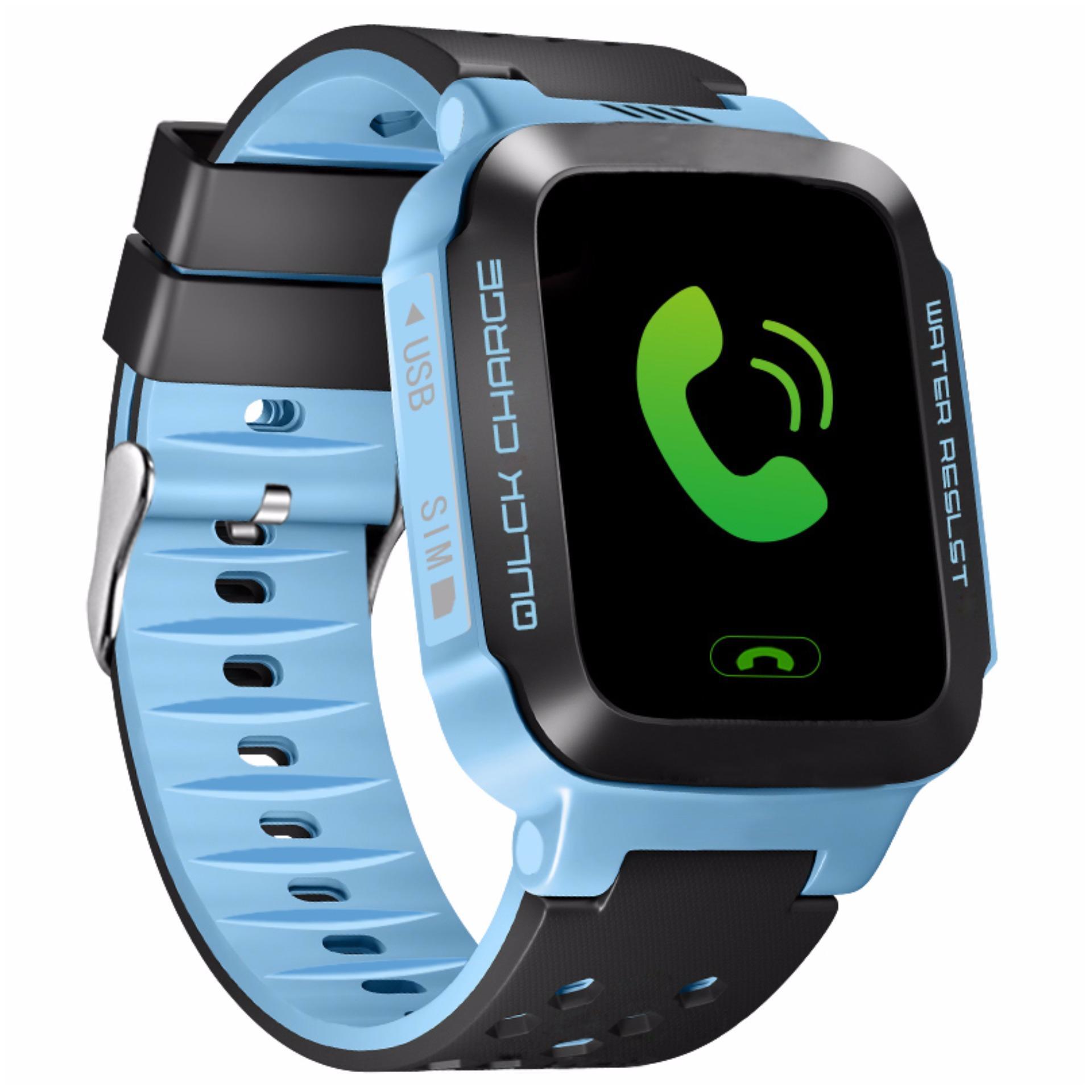 Đồng hồ định vị GPS trẻ em ecoWATCH_E5 (Xanh Đen)