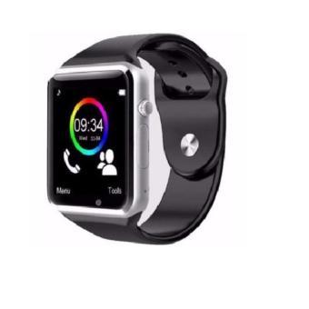 Đồng hồ Thông minh A1 cho deal 24h (Viền Bạc Dây Đen)