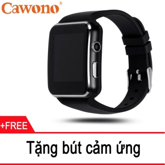 Đồng hồ thông minh Cawono X6 Màn hình Cong (Đen) + Tặng 1 bút cảmứng