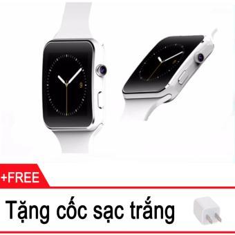 Đồng hồ thông minh Cawono X6 Màn hình Cong (Trắng) + Tặng cóc sạc trắng