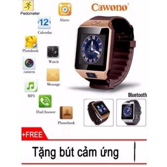 Đồng hồ thông minh gắn sim có Camera Cawono Z1 (Đen bạc) + Tặng bút cảm ứng