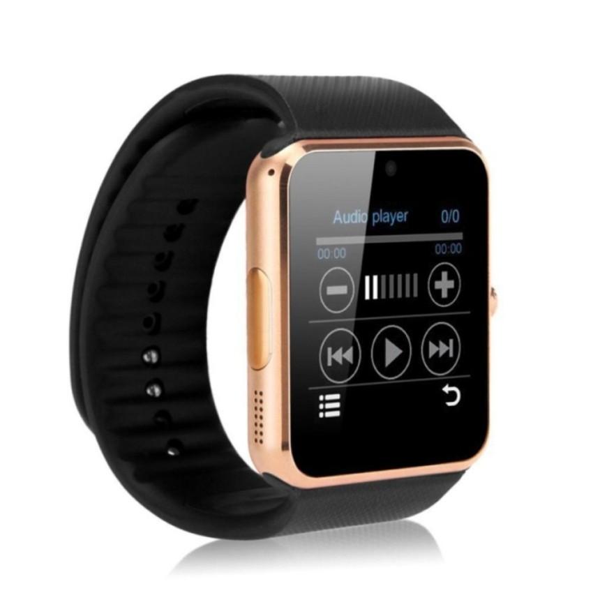 Hình ảnh Đồng hồ thông minh hỗ trợ sim Smartwatch DMT08 (Đen phối vàng)