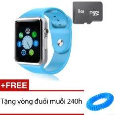 Đồng hồ thông minh Smart Watch AW08 gắn sim độc lập kèm thẻ nhớ 8GB (Xanh dương) + Tặng 1 vòng đuổi muỗi 240h