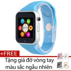 Đồng hồ thông minh Smart Watch GM08 gắn sim độc lập (Xanh dương) + Tặng giá đỡ vòng tay thông minh màu sắc ngẫu nhiên