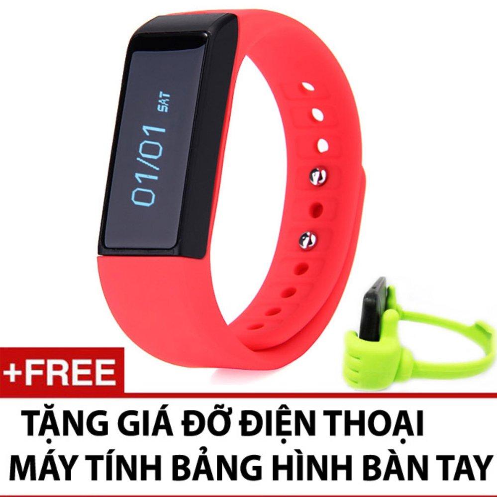 Đồng hồ vòng tay thông minh I5 plus + tặng giá đỡ bàn tay