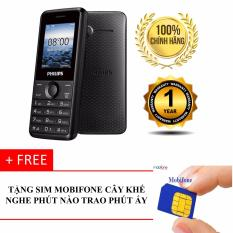 Mua ĐTDĐ Philips E103 2 SIM 2 Sóng Đa Tính Năng (Đen) Tặng Kèm SIM Mobifone Cây Khế  Hanoitechbuy