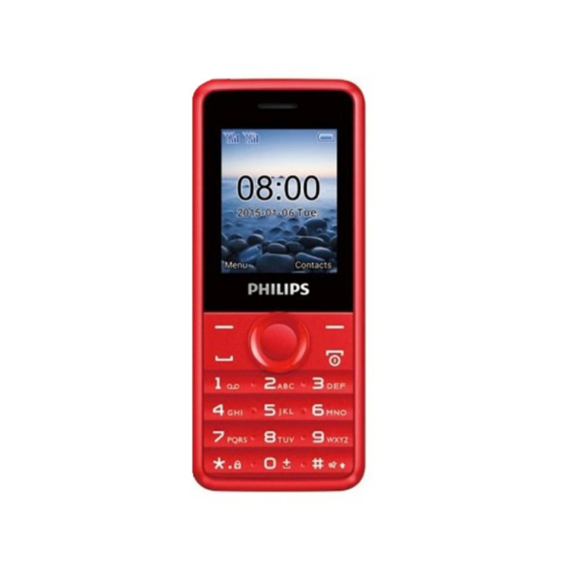 ĐTDĐ Philips E103 4MB 2 Sim (Đỏ) – Hãng Phân phối chính thức
