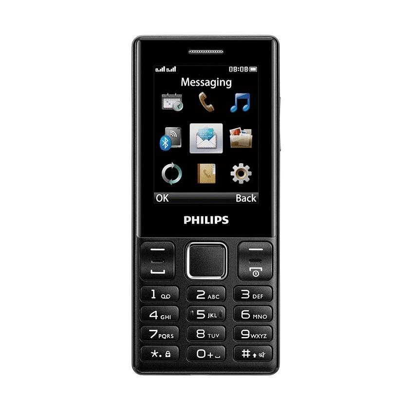 ĐTDĐ Philips E170 2 SIM (Đen) - Hãng phân phối chính thức