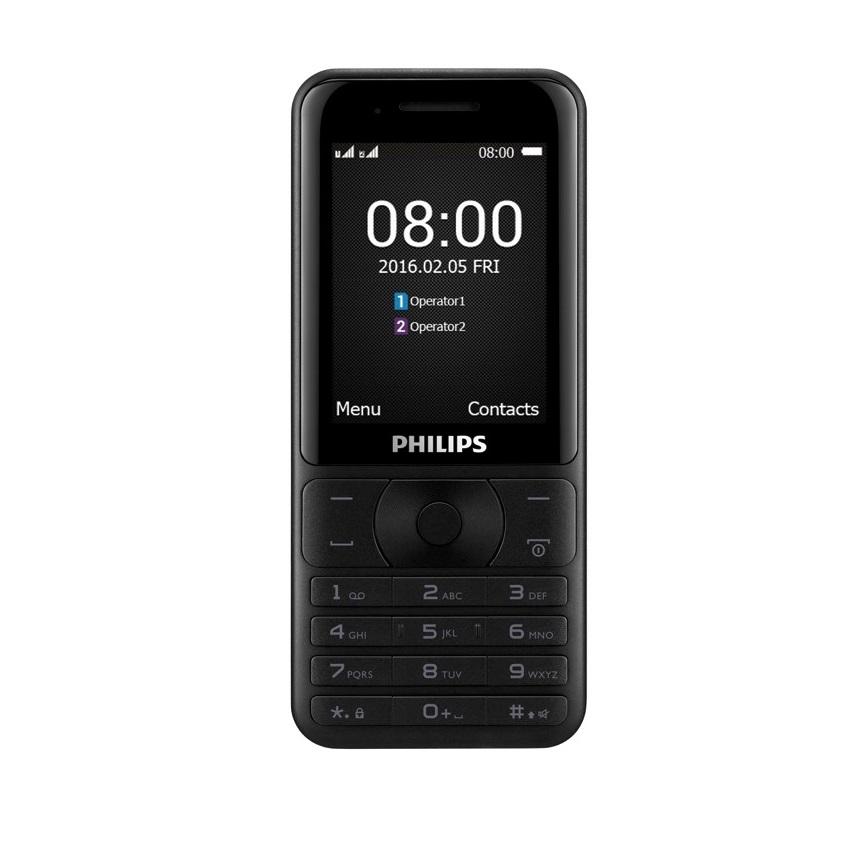 ĐTDĐ Philips E181 2 SIM kiêm pin sạc dự phòng (Đen) – Hãng phân phối chính thức