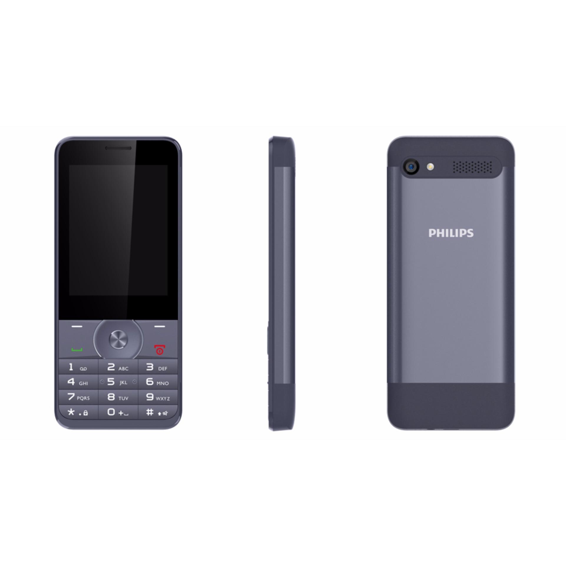 ĐTDĐ Philips E316 2 SIM 2 Sóng Vỏ Nhôm Sang Trọng (Xanh Đen)