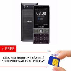ĐTDĐ Philips E570 Bàn Phím To (Đen) Tặng Kèm SIM Mobifone Cây Khế