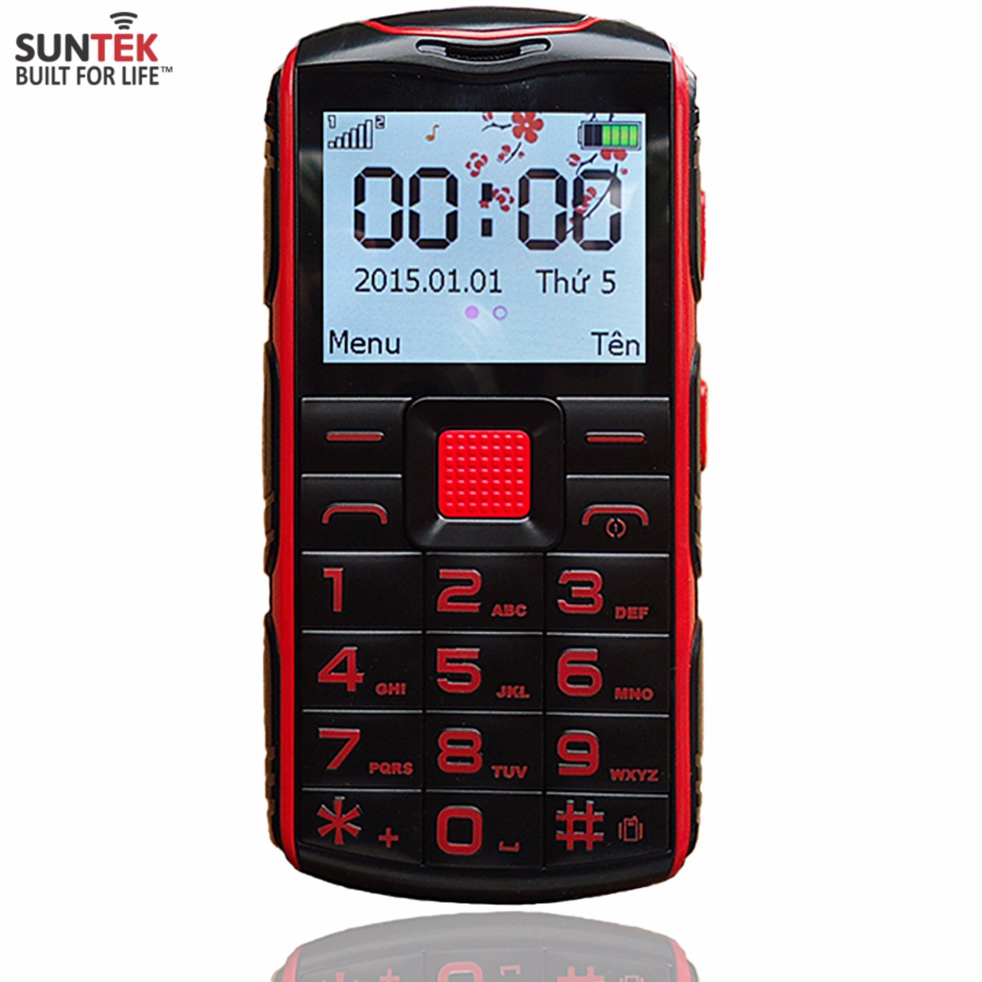 Giảm giá ĐTDĐ Suntek G1 2 SIM dành cho người già (Đỏ phối đen)