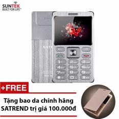 Bảng Giá ĐTDĐ SUNTEK Satrend V6 kiêm tai nghe bluetooth (Bạc) + Tặng bao da chính hãng Satrend Tại Suntek (Hà Nội)