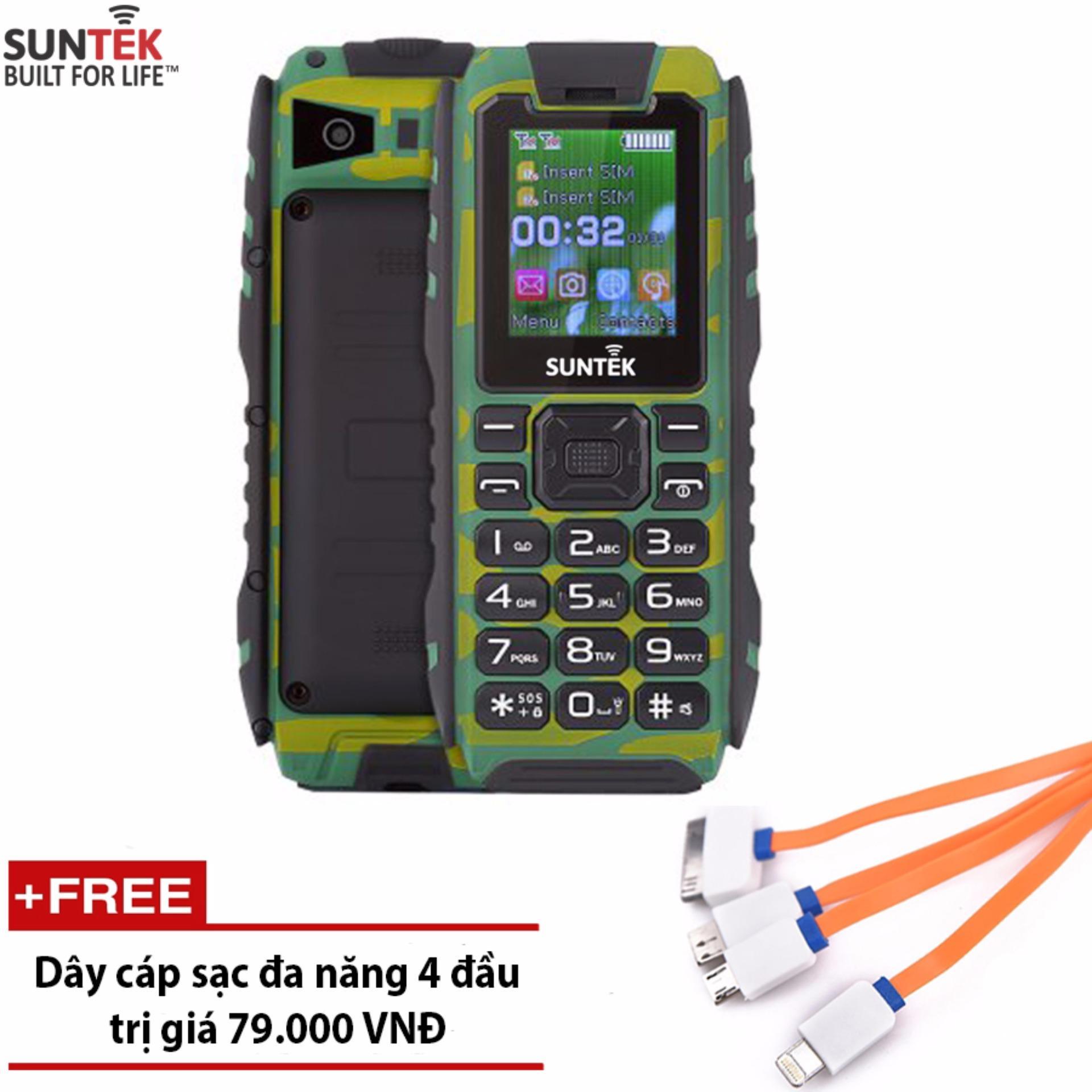 Bảng Báo Giá ĐTDĐ Suntek X9 2 SIM chống nước kiêm pin sạc dự phòng 16.000mAh (Rằn ri) – Hàng nhập khẩu + Tặng cáp sạc đa năng