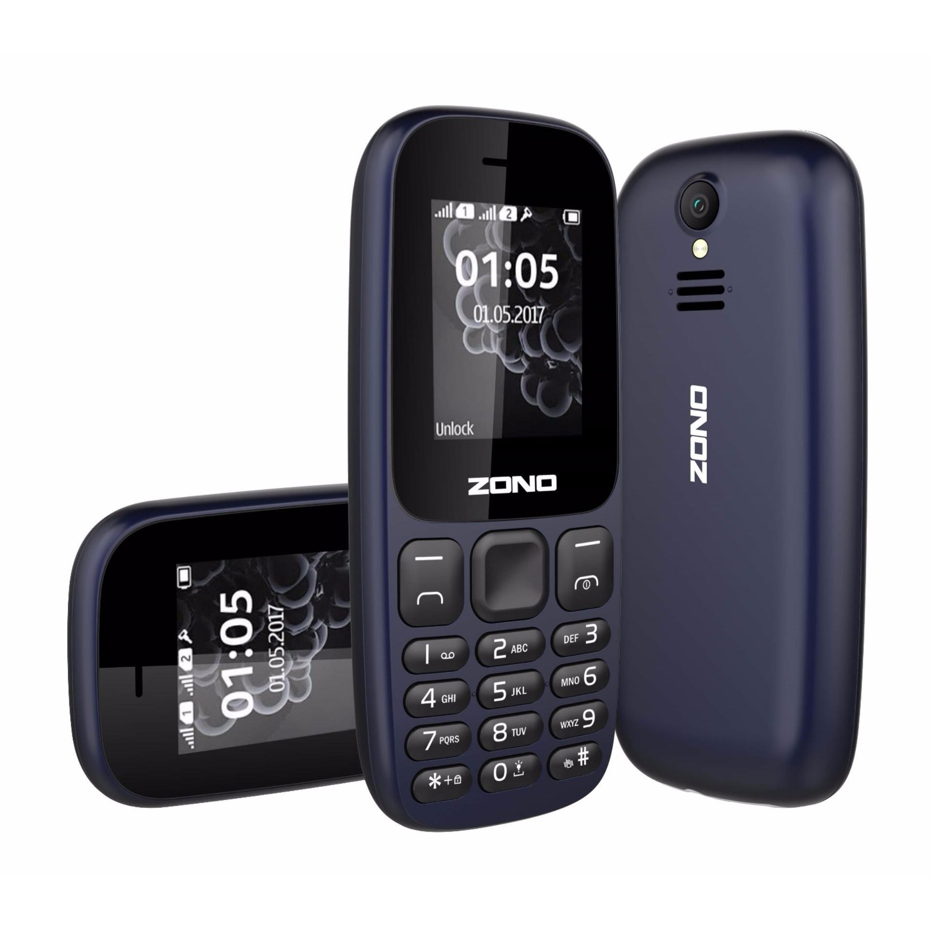 ĐTDĐ ZONO N105 2 Sim Có Camera (Bảo hành 12 tháng) - Xanh Đen