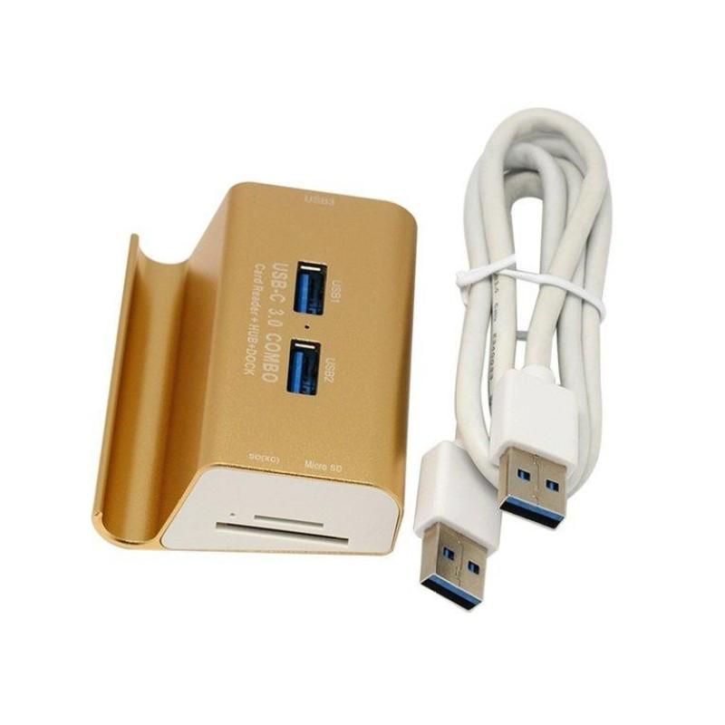 Bảng giá ERA Aluminum Alloy USB3.0 HUB USB Splitter With Card Reader + Holder Stand - intl Phong Vũ