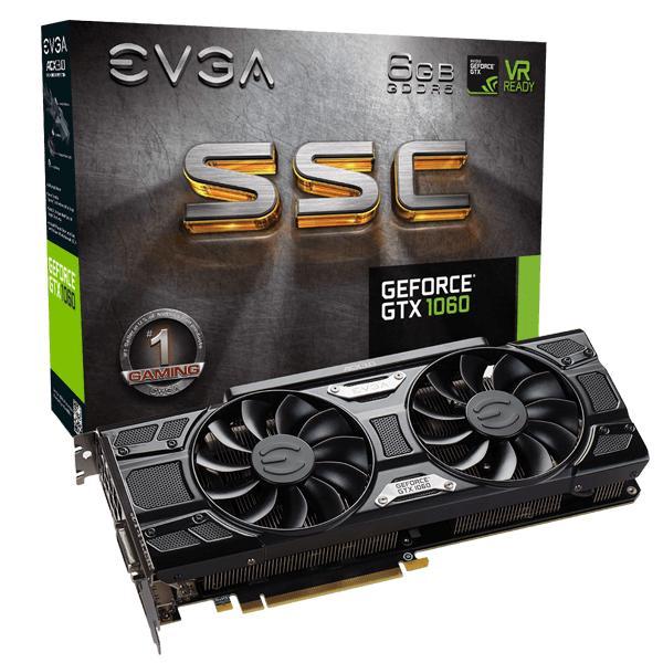 EVGA GeForce GTX 1060 6G SSC GAMING 06G-P4-6267 ( Đen)