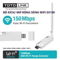 EX100 – Thiêt bị mở rộng sóng WIFI chuẩn N 150Mbps – Hãng TOTO Link bảo hành 24 tháng 1 đổi 1