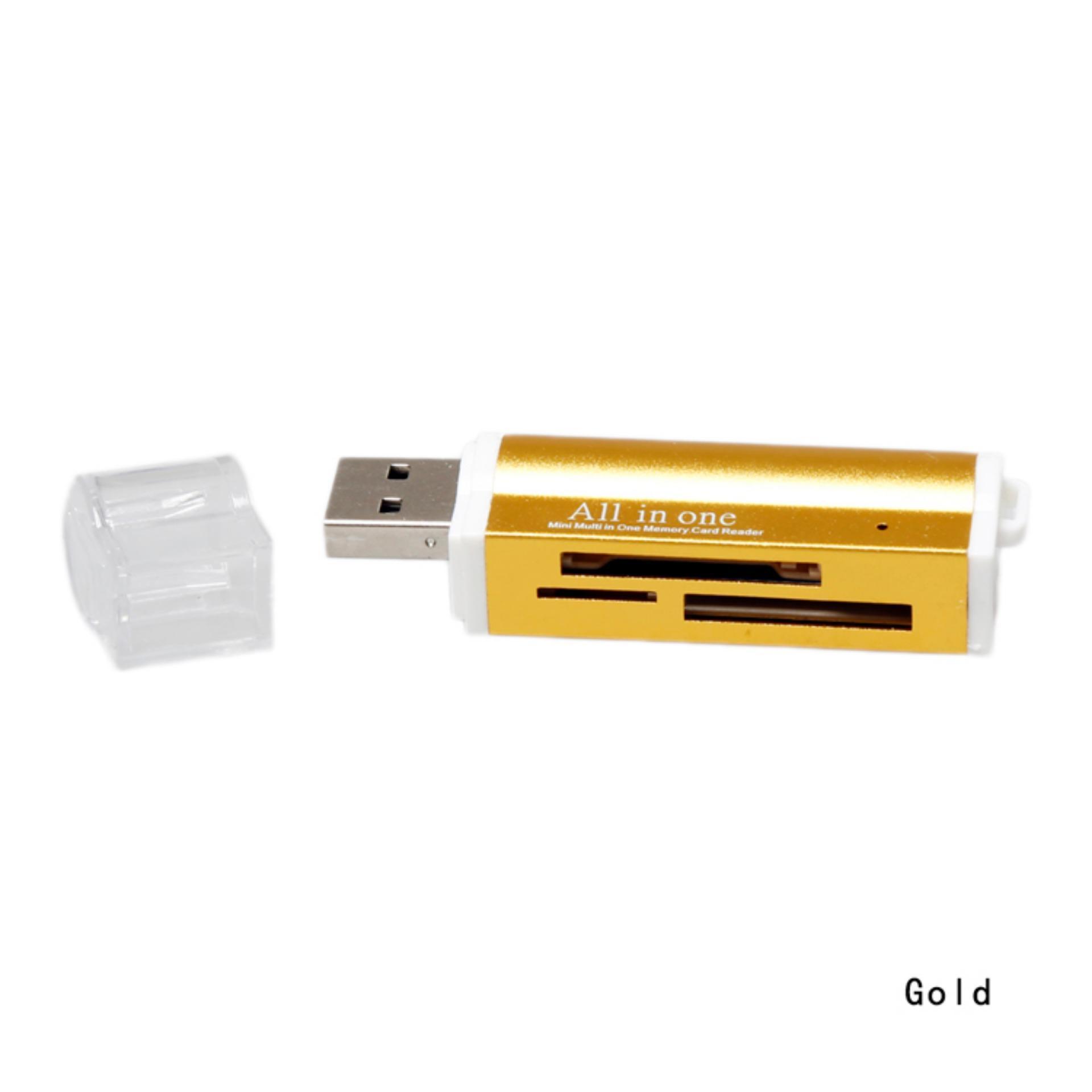 Mini Fancyqube Thiết Kế Đa Chức Năng USB Đọc Thẻ SD/TF-Đen, Xanh, Vàng màu tím-intl Đang Bán Tại Fancyqube Fashion