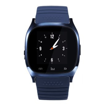 Fashion Bluetooth 4.0 Smart Watch Wristwatch Support for IOSAndroid Phones (Dark Blue) - intl