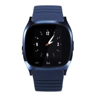 Fashion Bluetooth 4.0 Smart Watch Wristwatch Supportfor IOSAndroid Phones (Dark Blue) - intl