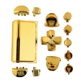 Fashion Buttons Mod Chrome Gold For Sony Playstation 4 PS4Controller Gamepad - intl