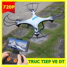 Flycam DRONE S camera WIFI 720P VIDEO quay trực tiếp về điện thoại-FREE 1 BIN-hàng nhập (màu trắng)
