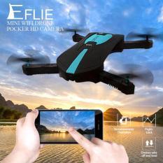 Flycam JY018 – Cánh gấp gọn, Camera FPV WIFI 720P, điều khiển điện thoại Ipad (Đen phối xanh)