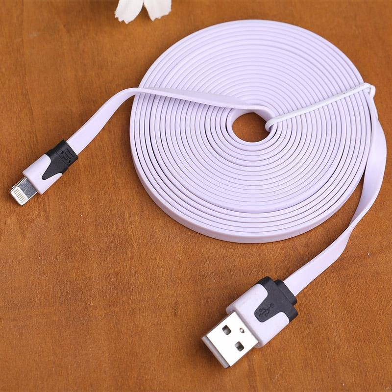 ... For iPhone 5 S C 6 Plus 1 2 3M Noodle USB Sync Data Charger Cable Cord