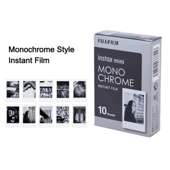 Fujifilm Instax Mini 10 Sheets Monochrome Mono Black Film Photo Paper Instant Print for Fujifilm Instax Mini7s/8/25/50s/70/90 SP-1/SP-2 Smartphone Printer - intl