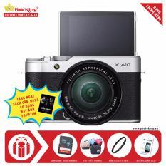 FujiFilm X-A10 KIT XC 16-50mm F3.5-5.6 OIS II (Bạc) + Tặng kèm thẻ nhớ Sandisk 16GB 48Mb/s + Túi thời trang + Kính lọc Filter + Miếng dán LCD + Sách cẩm nang HDSD – Hãng phân phối chính thức