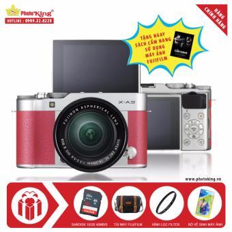 So Sánh Giá FujiFilm X-A3 KIT XC 16-50mm F3.5-5.6 OIS II (Hồng) + Tặng kèm Thẻ nhớ Sandisk 16Gb 48Mb/s (320x) + Túi Fujifilm chính hãng + 01 Kính lọc + Bộ vệ sinh + Sách Cẩm nang sử dụng máy ảnh FujiFilm – Hãng Phân phối chính thức