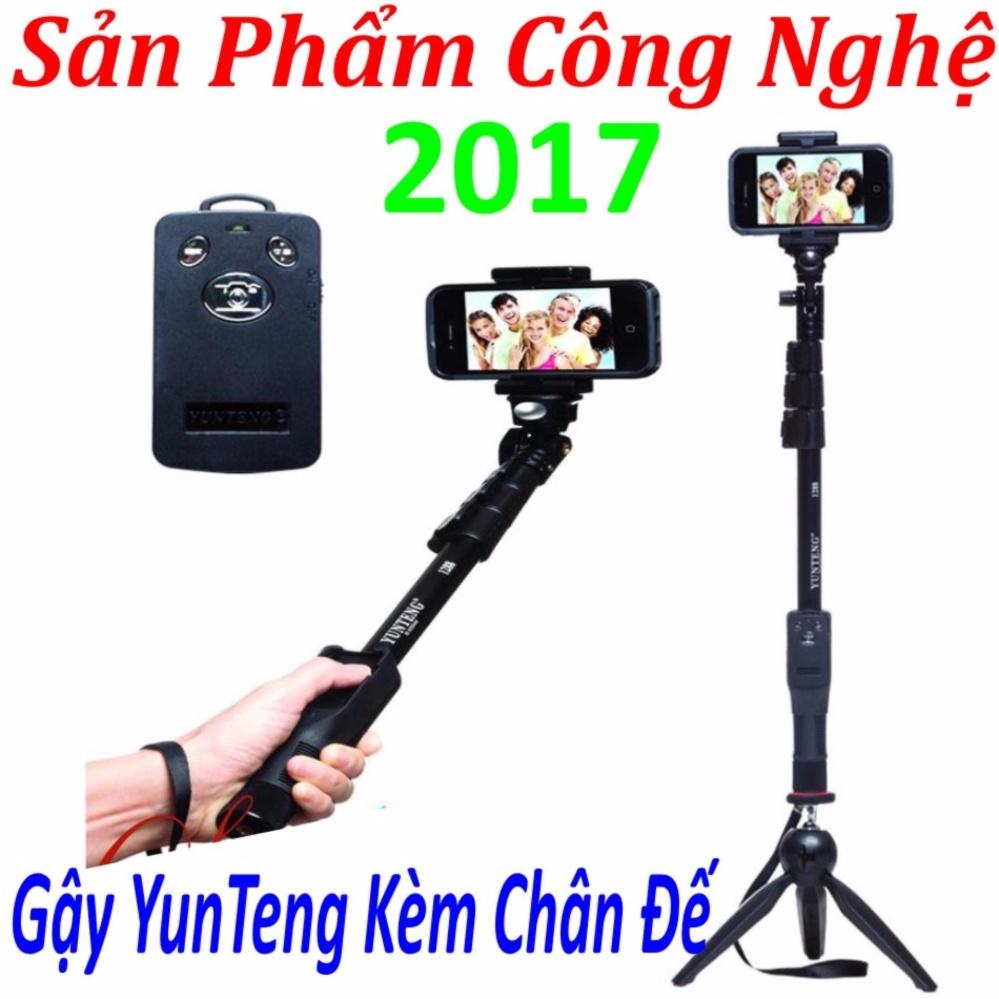 Gậy chụp hình tự sướng yunteng 1288 tay bluetooth +Tặng chân đế tripod yunteng 228 ( Sản Phẩm 2017 )