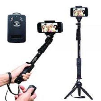 Gậy tự sướng selfie Yunteng 1288 kèm chân đế tripod 228(Đen)(Đen)
