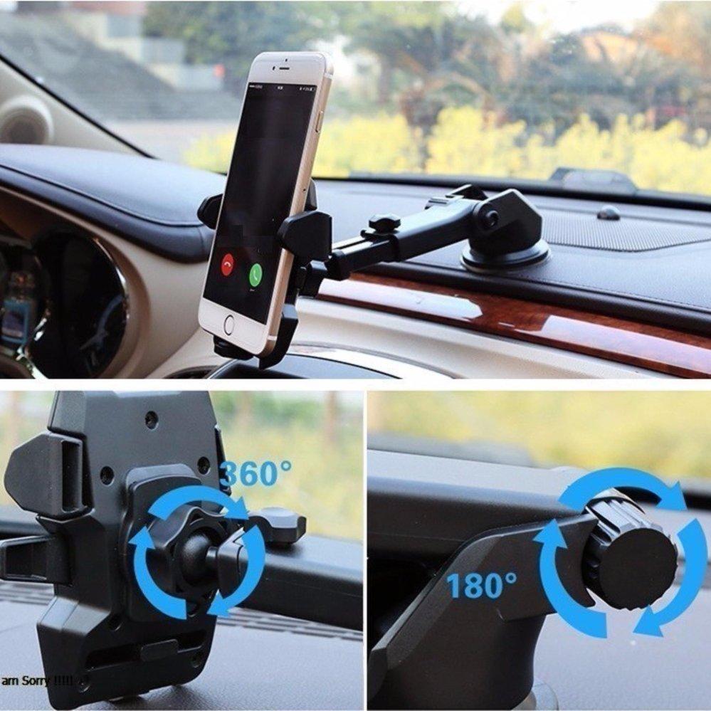 Mua Giá đỡ điện thoại gắn kính xe ô tô, hoặc mặt phẳng, kéo dài ngắn đa năng loại tốt N81 ( Đen ) ở đâu tốt?