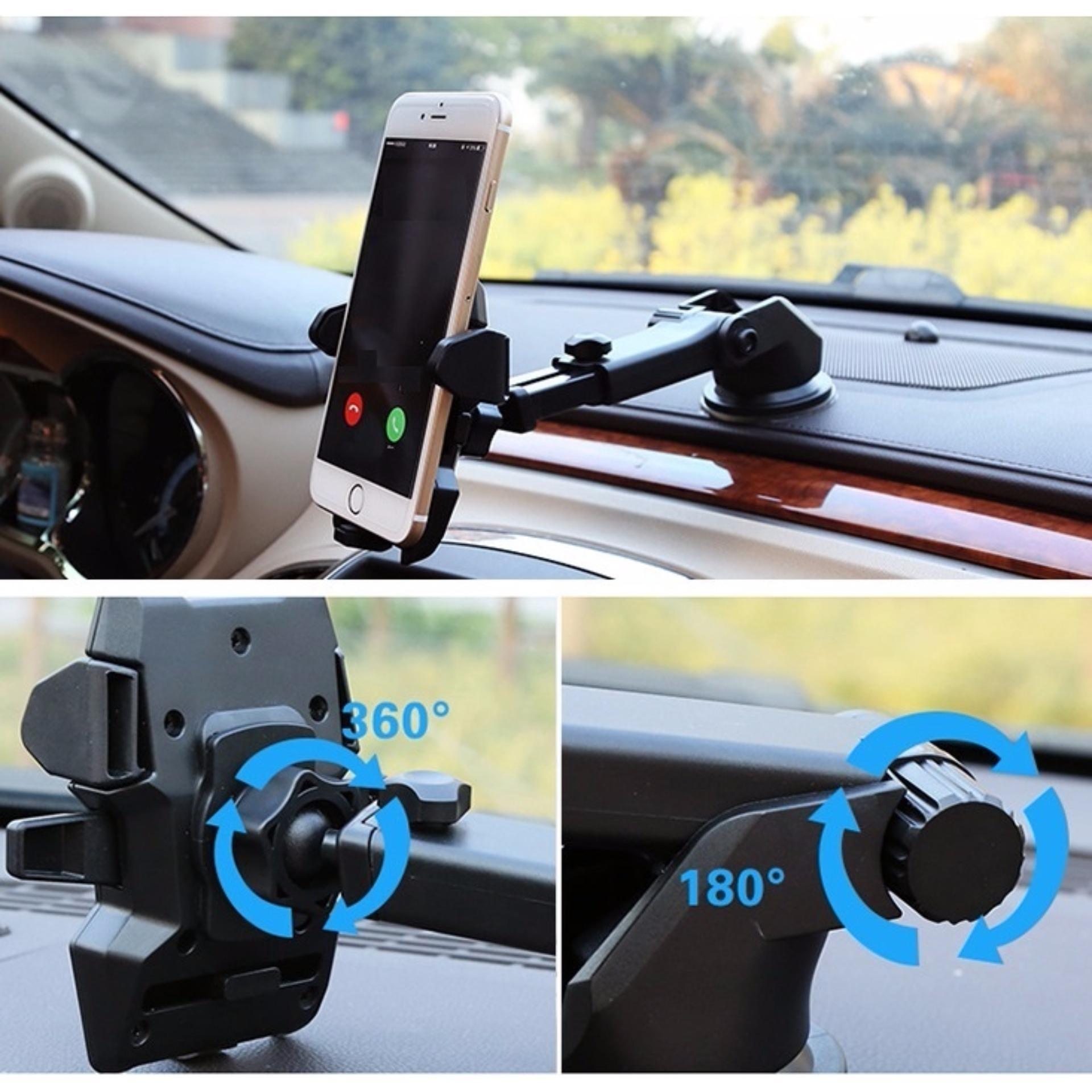 Giá đỡ điện thoại trên ô tô NEW H81 Xoay đa chiều đa kích cỡ – Hút chân không siêu chắc