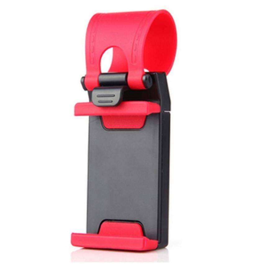 Hình ảnh Giá đỡ điện thoại trên tay lái xe hơi (Đen phối đỏ)