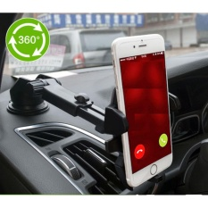 Giá đỡ kẹp Điện thoại trên xe hơi, ô tô kéo dài ngắn, chỉnh 360 độ