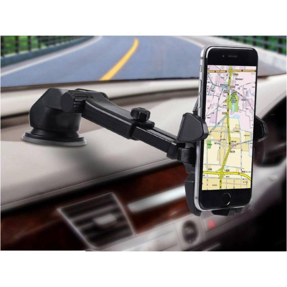 Mua Giá đỡ kẹp điện thoại trên xe hơi, ô tô kéo dài, thu hẹp xoay 360 độ (Đen) ở đâu tốt?