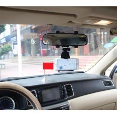 Giá kẹp điện thoại lên gương chiếu hậu xe hơi (Đen)