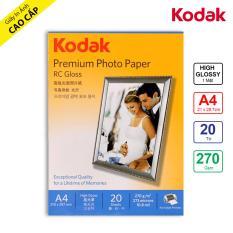 Giấy In Ảnh Cao Cấp Kodak RC 1 Mặt Siêu Bóng (High Glossy) A4 (21 x 29.7cm) 270gsm 20 Tờ – Hàng Nhập Khẩu