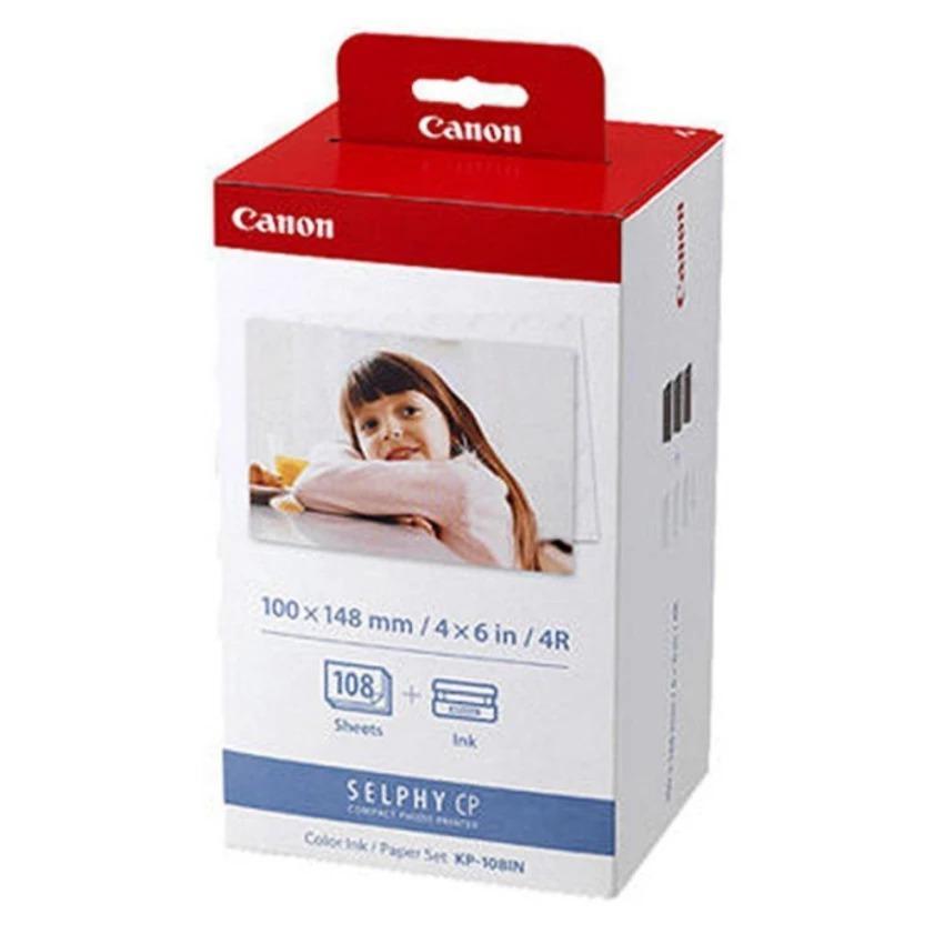 Giá Giấy và Mực in ảnh nhiệt Canon KP108 dùng cho (CP1000,900, CP1200) Tại CTY TNHH MÁY IN TIẾN THỊNH