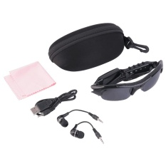 GOOD Sunglasses+Camera+Mp3 Player+Earphone 4In1 Hd Dvr Tf Audio Video Recorder Black – intl