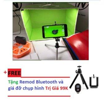 Hộp Chụp ảnh Sản Phẩm Có Đèn Led + Gạy Chụp ảnh PDVV