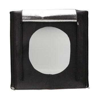 Hộp chụp sản phẩm đèn led 30w cỡ 60x60cm (Đen)