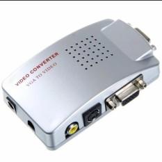 Hộp chuyển đổi tín hiệu từ VGA sang SVIDEO – AV (Trắng)