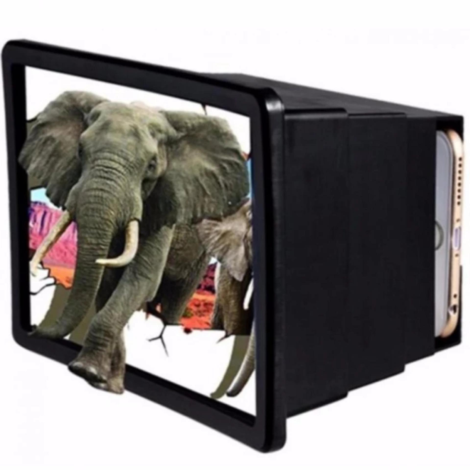 Hộp kính 3D phóng to màn hình điện thoại Smartphone F2 đen