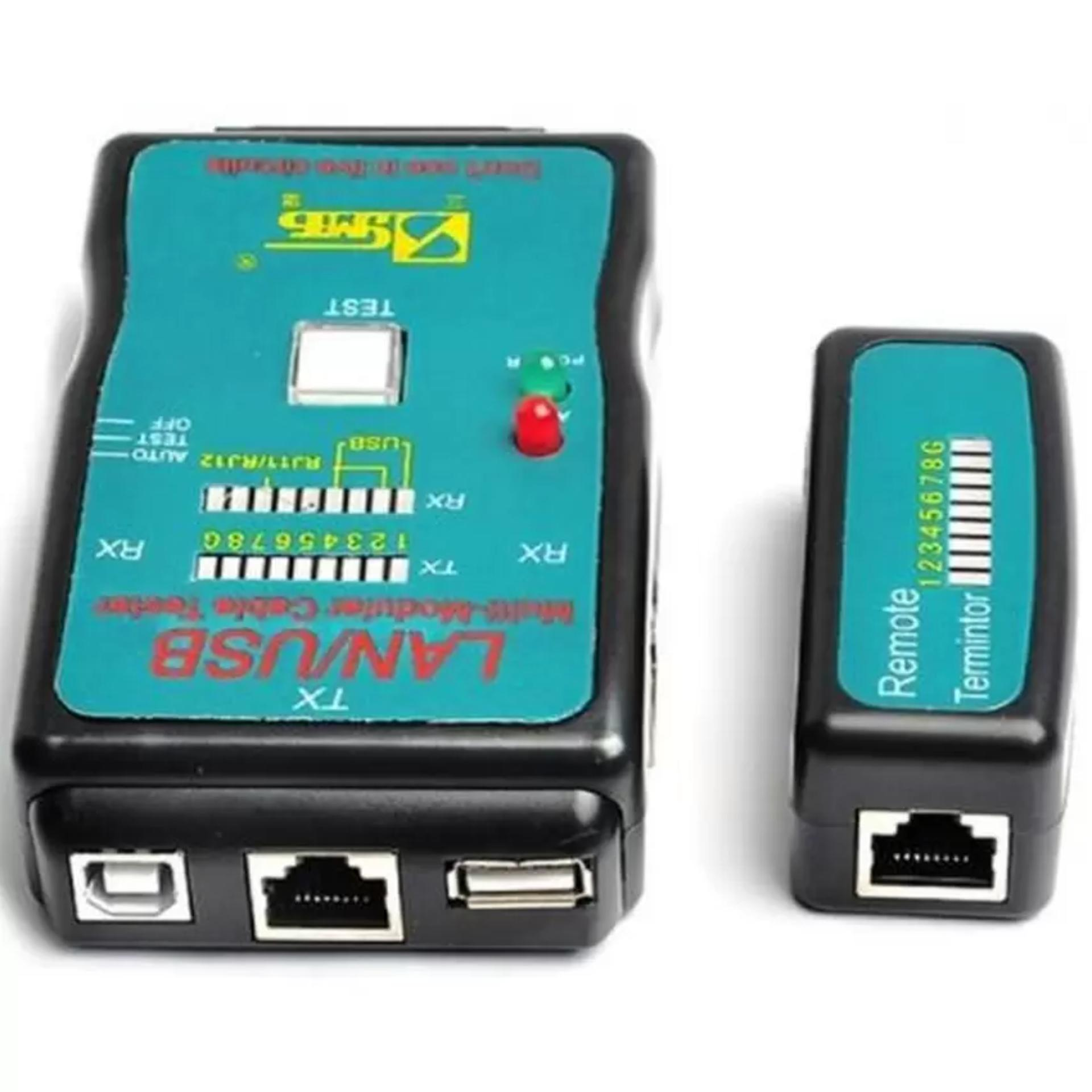 Hộp test cáp mạng, kiểm tra dây mạng đa năng CT-168 (RJ45-RJ11-USB) Gia Bách